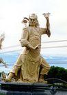 佛像艺术0124,佛像艺术,中国图片,发怒 面部表情 雕像 琵琶扇 铜像