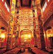 佛像艺术0160,佛像艺术,中国图片,金色柱子