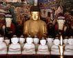 佛像艺术0172,佛像艺术,中国图片,大小佛像 金色大佛 白色小佛像