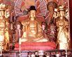 佛像艺术0173,佛像艺术,中国图片,寺庙游览 金光佛像 红坐垫