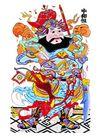 门神0011,门神,中国图片,灶神爷 脸色 红润