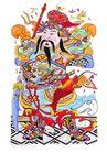 门神0015,门神,中国图片,武将 装束 雄姿