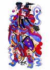 门神0019,门神,中国图片,天兵 握刀 守备