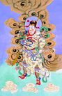 门神0028,门神,中国图片,云彩 神仙 彩带