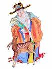 门神0034,门神,中国图片,仙人 老者 梅花鹿