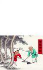 剪纸艺术0049,剪纸艺术,中国图片,打扫