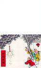 剪纸艺术0050,剪纸艺术,中国图片,放鞭炮