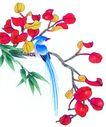 花鸟国画0069,花鸟国画,中国图片,花鸟 国画 红花