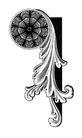 古代图案花纹0078,古代图案花纹,中国图片,草叶 角纹 卷轴