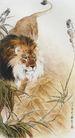 中国现代花鸟0165,中国现代花鸟,山水名画,狮子
