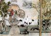 中国现代花鸟0167,中国现代花鸟,山水名画,仙鹤