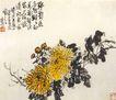中国现代花鸟0169,中国现代花鸟,山水名画,菊花