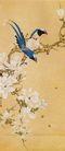 中国现代花鸟0182,中国现代花鸟,山水名画,树枝 喜鹊