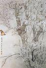 中国现代花鸟0185,中国现代花鸟,山水名画,果树 红梅