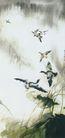 中国现代花鸟0190,中国现代花鸟,山水名画,风景画 仙鹤