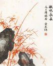 中国现代花鸟0192,中国现代花鸟,山水名画,祝福 长寿 毛主席