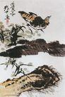 中国现代花鸟0193,中国现代花鸟,山水名画,戊 年份 鸟