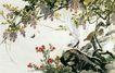 中国现代花鸟0197,中国现代花鸟,山水名画,蝴蝶 花鸟 鸟语花香
