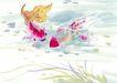 水下动物画0004,水下动物画,山水名画,戏耍 浅水 潜游