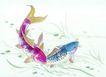 水下动物画0012,水下动物画,山水名画,小溪 流水 鲫鱼