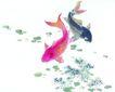 水下动物画0024,水下动物画,山水名画,鲤鱼 动物 戏水