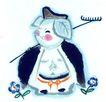 中国动物画0089,中国动物画,山水名画,动物 表情 可爱