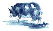 中国动物画0090,中国动物画,山水名画,悠闲 神态 动物画