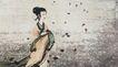 中国现代人物0185,中国现代人物,山水名画,古代女子 丝绸衣饰