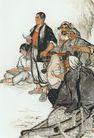 中国现代人物0187,中国现代人物,山水名画,农民 劳苦大众
