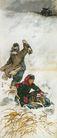 中国现代人物0192,中国现代人物,山水名画,油灯 汽车 竹篮子