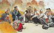中国现代人物0221,中国现代人物,山水名画,军人 贫苦人民