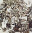中国现代人物0231,中国现代人物,山水名画,素描 人物 题字