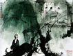 傅抱石作品集0094,傅抱石作品集,中国传世名画,毛驴 隐者 诗人