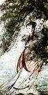 傅抱石作品集0102,傅抱石作品集,中国传世名画,修女 在树下 穿长袍