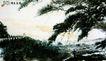 傅抱石作品集0106,傅抱石作品集,中国传世名画,松树 树叶茂密 烟囱