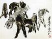 黄胃作品集0061,黄胃作品集,中国传世名画,羊羔 农场 圈养