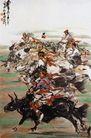 黄胃作品集0063,黄胃作品集,中国传世名画,牧民 骑马 追逐
