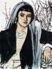 黄胃作品集0064,黄胃作品集,中国传世名画,农妇 头巾 美丽