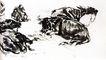 黄胃作品集0073,黄胃作品集,中国传世名画,水牛 趴卧 地上