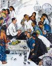 黄胃作品集0076,黄胃作品集,中国传世名画,毛主席 农民 交谈