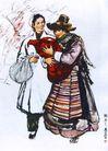 黄胃作品集0092,黄胃作品集,中国传世名画,婴儿 母亲 护士