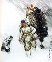 黄胃作品集0098,黄胃作品集,中国传世名画,知青 风雪 行走