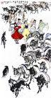 黄胃作品集0105,黄胃作品集,中国传世名画,少数民族 几个女人 赶驴子