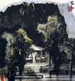 李可染作品集0067,李可染作品集,中国传世名画,山峰 古寺 美景