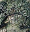 李可染作品集0071,李可染作品集,中国传世名画,江南 水乡 流水