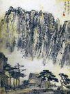 李可染作品集0073,李可染作品集,中国传世名画,仙境 松树 下棋