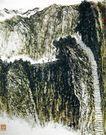 李可染作品集0078,李可染作品集,中国传世名画,山间 悬壁 小道