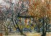 李可染作品集0079,李可染作品集,中国传世名画,枯枝 秋景 黑条