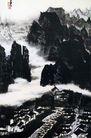 李可染作品集0088,李可染作品集,中国传世名画,云层 山岭 传世