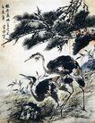 李苦禅作品集0059,李苦禅作品集,中国传世名画,写生 作品 丹顶鹤